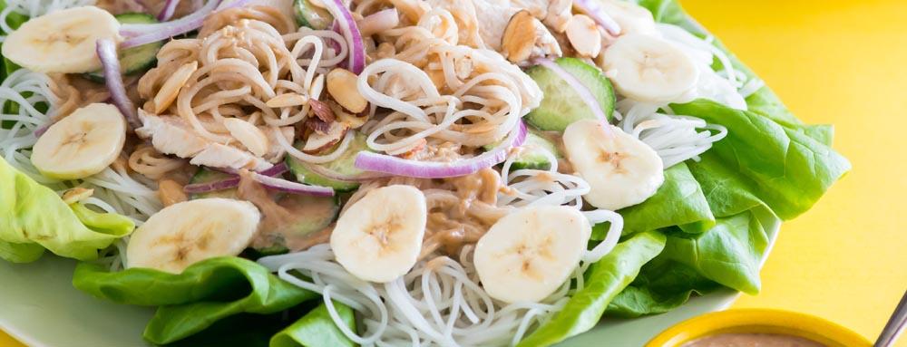 Banana Noodle Salad