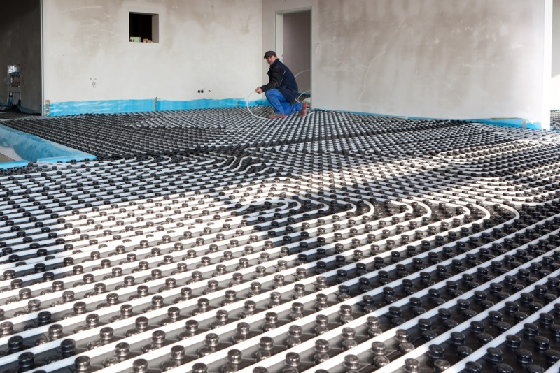 hydronic floor heating