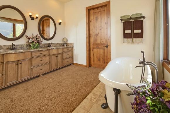 Empty bathroom of luxury house