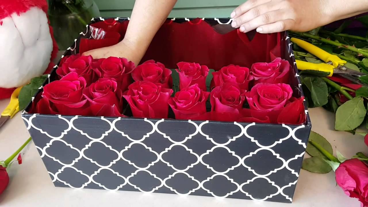 Коробка с цветами как сделать