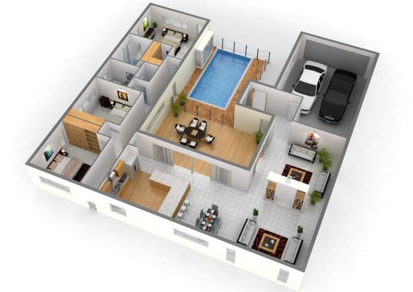 3D ARCHITECTURAL DESIGN for home